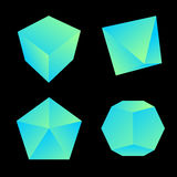 Vector glossy platonic solids set Stock Images