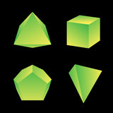 Vector glossy platonic solids set Stock Photos