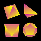 Vector glossy platonic solids set Stock Photo