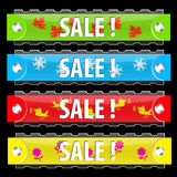 Vector glossy sale tag buttons. Stock Photo