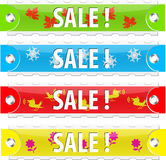 Vector glossy sale tag buttons. Glossy sale tag buttons. Vector illustration. On white Stock Photo