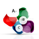 Vector glossy square elements Royalty Free Stock Images