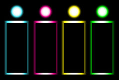 Vector glow banner design Stock Image