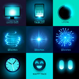 Vector Glow In The Dark Collection Royalty Free Stock Photos