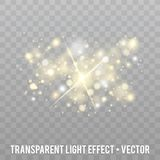 Vector Glow light Effect. Star burst with Sparkles. Eps10 Vector Background Royalty Free Stock Photo