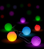Vector glow lights Stock Photography