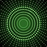 Vector Glowing Background, Green Circles, Abstract Lights on Dark Background. vector illustration