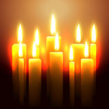 Vector glowing candle Stock Photography