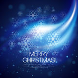 Vector glowing Christmas background Royalty Free Stock Photo