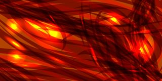 Vector glowing cosmic orange background made of black red metall. Ic lines. For registration of paper or banners Royalty Free Stock Images