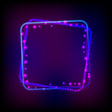 Vector glowing frame against dark background Royalty Free Stock Photo
