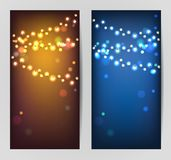 Vector glowing garlands Stock Photography