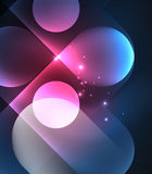 Vector glowing geometric shapes background Stock Photography