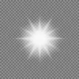 Vector glowing light bursts with sparkles on transparent background Royalty Free Stock Photos