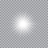 Vector glowing light bursts with sparkles Stock Image