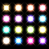 Vector glowing lights, stars and sparkles 3 Royalty Free Stock Photo