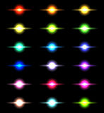 Vector glowing lights, stars and sparkles 5 Royalty Free Stock Photo