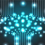 Vector glowing micro cosmos background. Eps10. Vector abstract glowing azure micro cosmos background. Eps10 Stock Photography