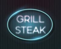 Vector Glowing Neon Sign Frame Template Stock Photography