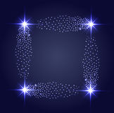 Vector glowing stars ghts and sparkles Royalty Free Stock Photos