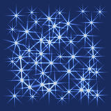 Vector glowing stars, lights and sparkles. Transparent effects Stock Photography