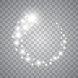 Vector glowing stars, lights and sparkles. Transparent effects Stock Image