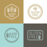 Vector gluten free badges Stock Image