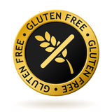 Vector gluten free gold medal Stock Photo