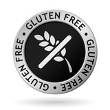 Vector gluten free silver medal. Vector silver medal with symbol of gluten free Royalty Free Stock Images