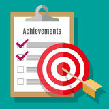 Vector goal achievement concept in flat style Royalty Free Stock Photos