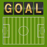 Vector of Goal football soccer Stock Images