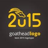 2015 vector goat logotype isolated on dark Royalty Free Stock Image