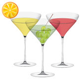Vector goblets whith juice Royalty Free Stock Photography