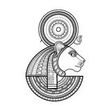 Vector God of ancient Egypt Royalty Free Stock Images