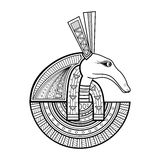 Vector God of ancient Egypt Stock Images