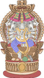 Vector. God Ganesha. Stock Photo