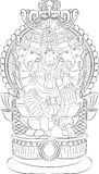 Vector. God Ganesha. Stock Photography