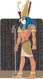 Vector god van Egypte Gor stock illustratie