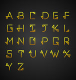 Vector Gold Alphabet Set. Vector Illustration Royalty Free Stock Photography