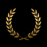 Vector gold award laurel wreath. Winner label, leaf symbol victory, triumph and success illustration royalty free illustration