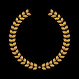 Vector gold award wreaths, laurel on black background. Vector Royalty Free Stock Image