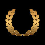 Vector gold award wreaths, laurel on black background. Vector Royalty Free Stock Photo