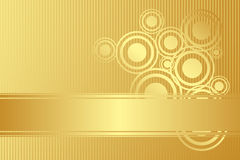 Vector gold background Stock Photos
