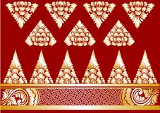 Vector Gold Balinese Ornaments Stock Image