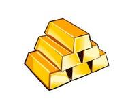 Vector Gold Bars Royalty Free Stock Photo