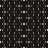 Vector gold and black background. Luxury design for decor, fabric, cloth, wrapping, covers. Vector gold and black background. Vintage minimalist seamless pattern Stock Image