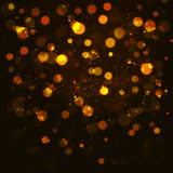 Vector gold  bokeh abstraction background. Stock Images