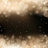 Vector gold bokeh background. Festive defocused lights. This image was made by an illustrator. Vector EPS 10 format Stock Photo