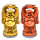 Vector gold and bronze figure of Indian deity Stock Images