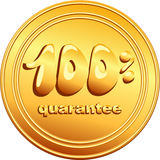 vector Gold button Royalty Free Stock Photography